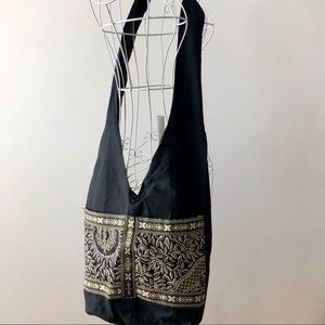 Ethnic Cloth Bag NWOT - Black